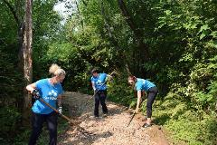 Team MBAKS participates in community stewardship events throughout the year, including trail cleanups at Mercer Slough Nature Park