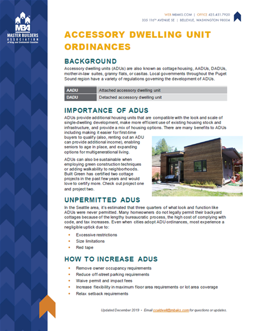 Cottage Housing Ordinances Brief