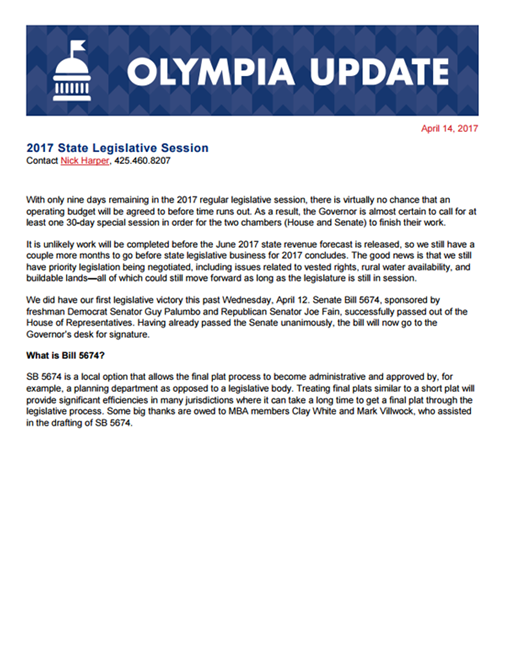 Olympia Update