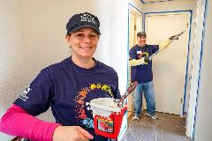 Melissa and Joseph Irons, Irons Brothers Construction, volunteering with Painting a Better Tomorrow