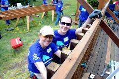 Building Beyond the Walls Rampathon volunteers in Enumclaw