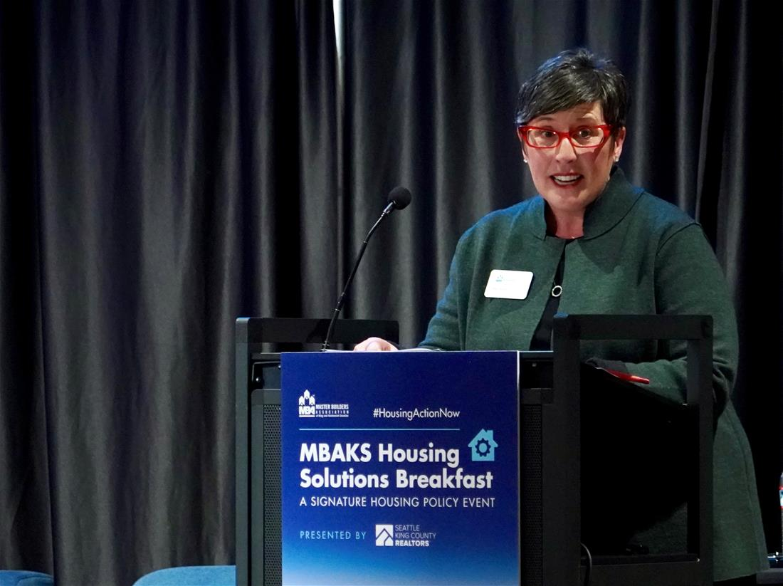 MBAKS Executive Director Kat Sims at 2018 Housing Solutions Breakfast, credit Alabastro Photography