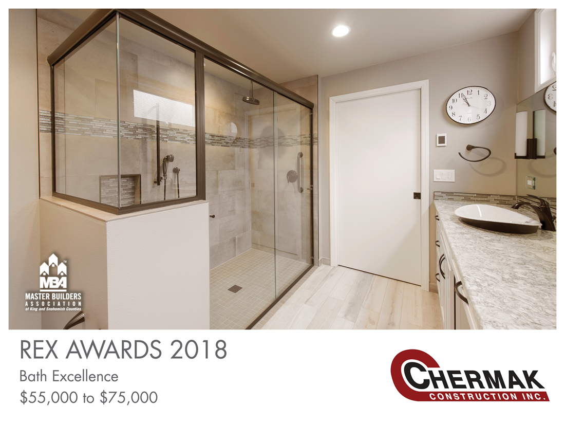 REX Award Winner: Bath Excellence—$55,000–$75,000: Chermak Construction Inc.