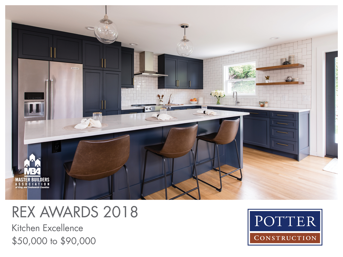 REX Award Winner: Kitchen Excellence—$50,000–$90,000: Potter Construction