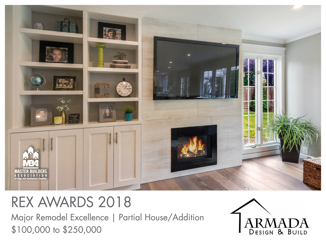 REX Award Winner: Major Remodel Excellence: Partial House/Addition—$100,000–$250,000: Armada Design & Build