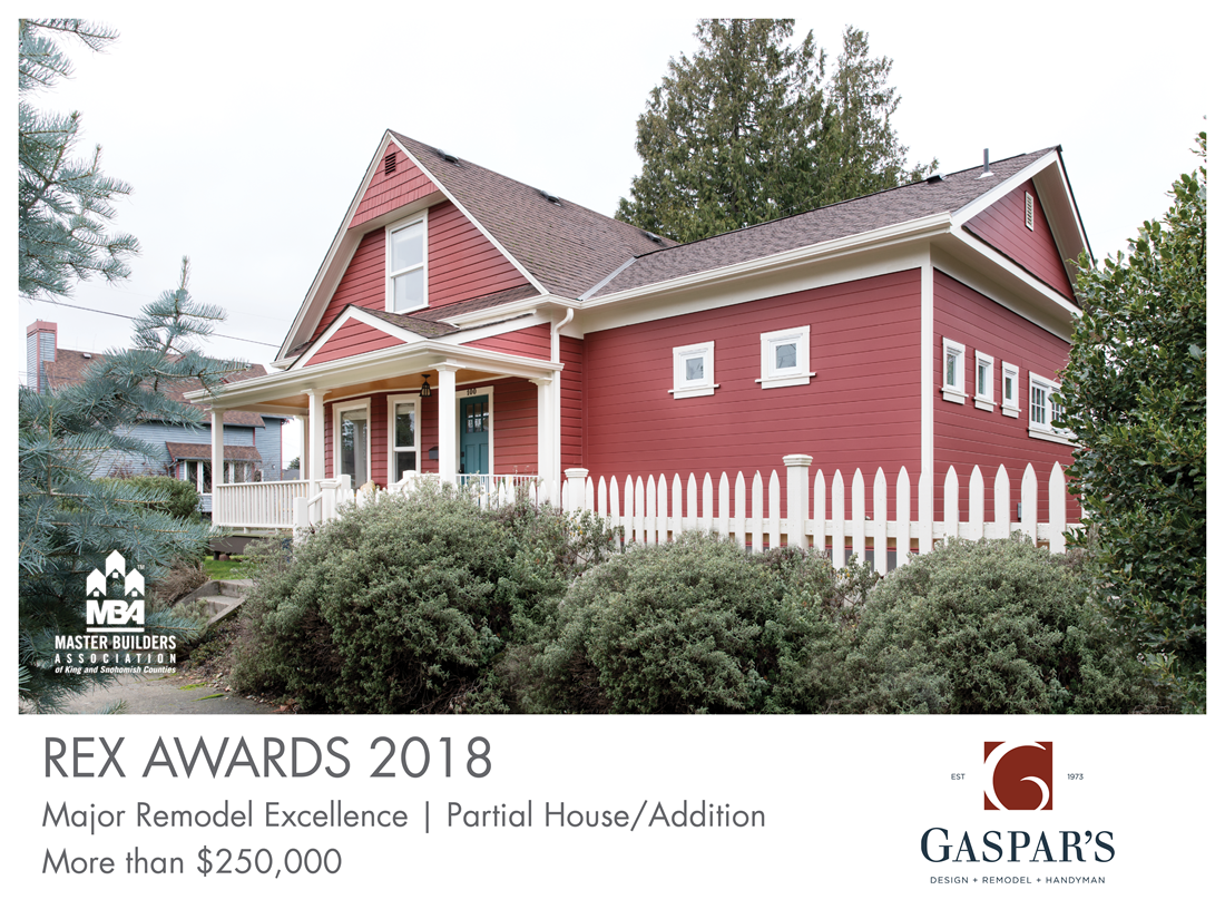 REX Award Winner: Major Remodel Excellence: Partial House/Addition—More Than $250,000: Gaspar's Construction
