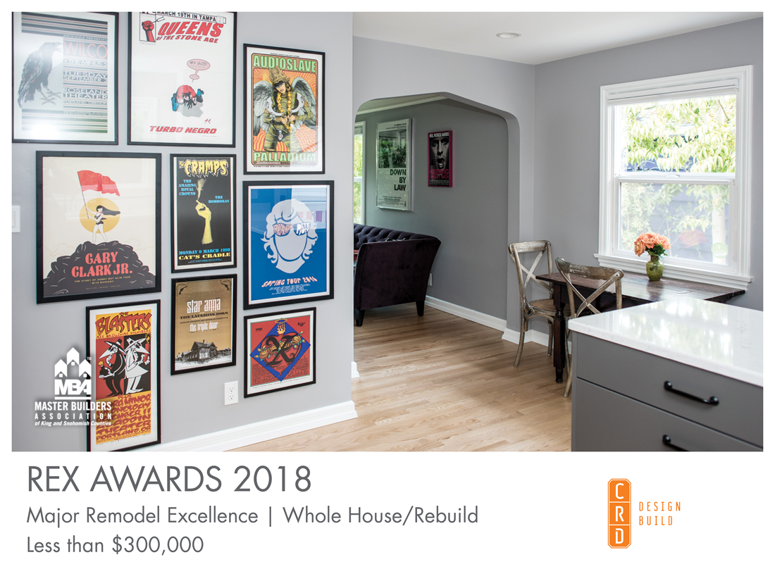 REX Award Winner: Major Remodel Excellence: Whole House/Rebuild—Less Than $300,000: CRD Design Build
