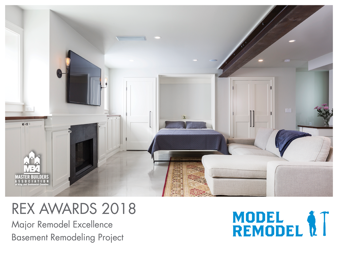 REX Award Winner: Major Remodel Excellence: Basement Remodeling: Model Remodel