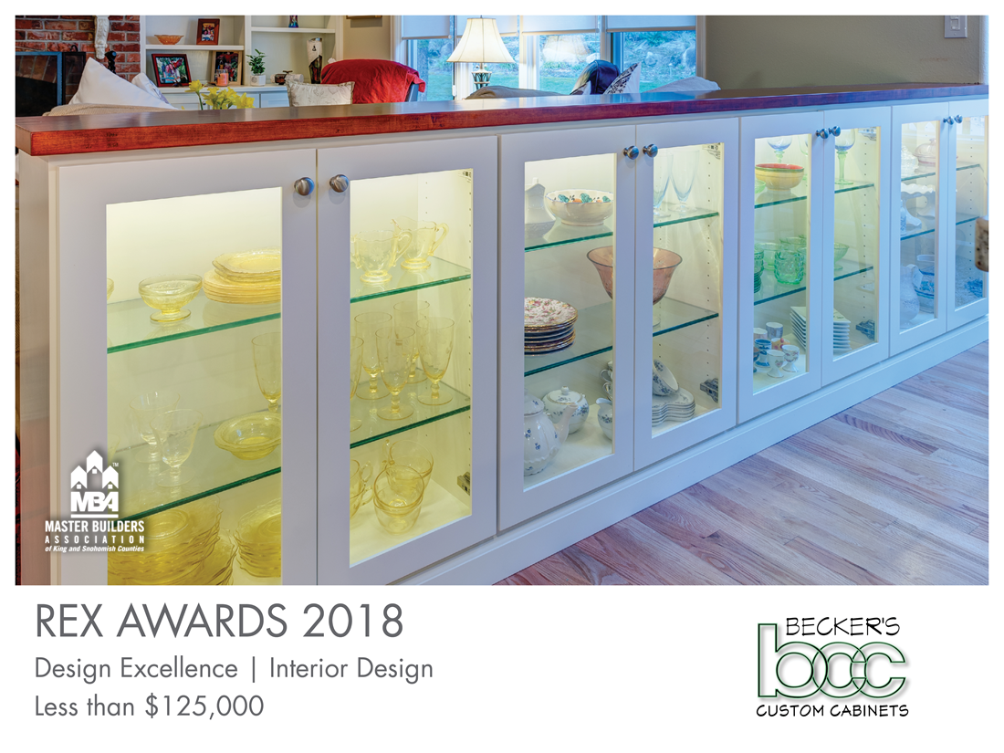 REX Award Winner: Design Excellence—Interior Design: Becker's Custom Cabinets