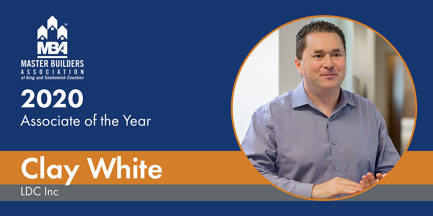 2020 Associate of the Year Winner Clay White, LDC Inc., Woodinville, WA