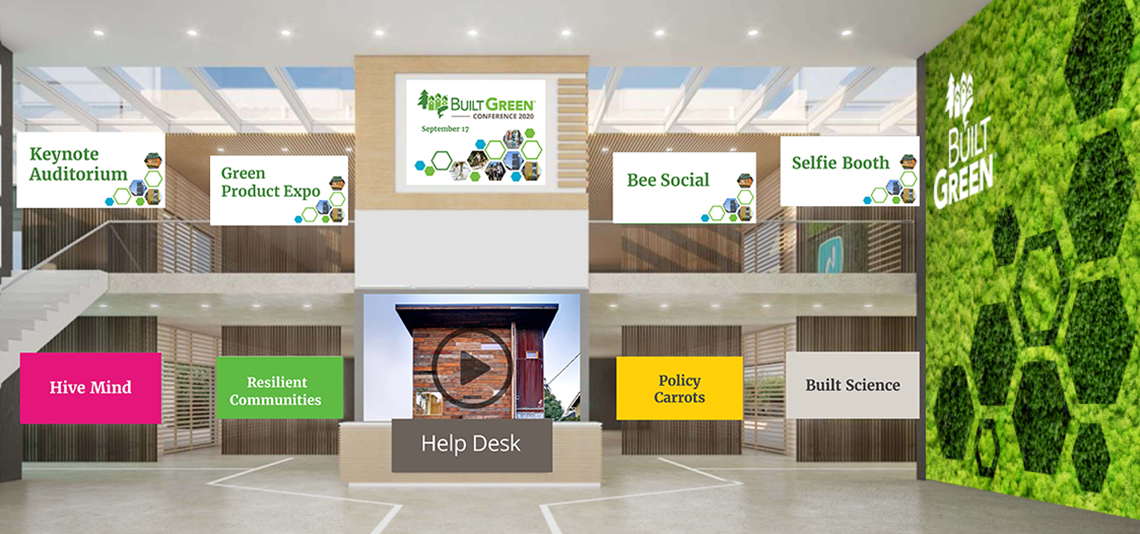 Built Green Virtual Conference Lobby