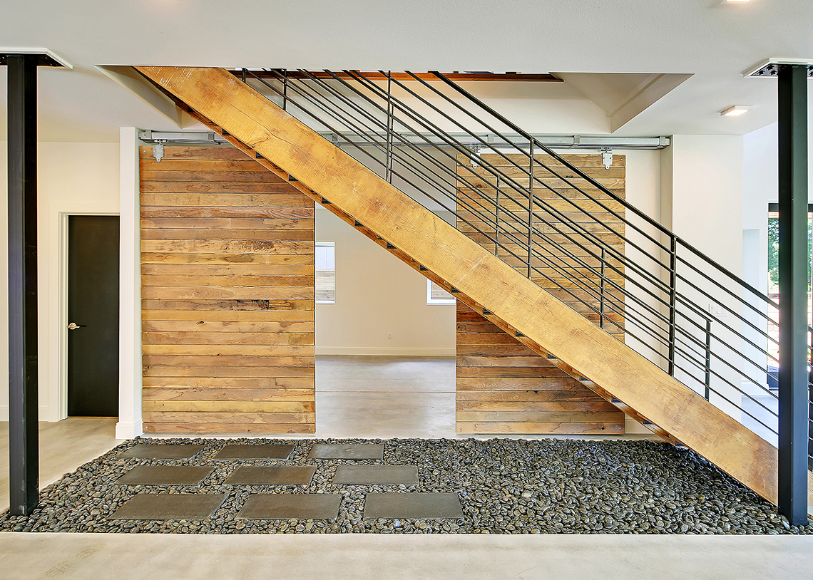 Dwell Development Net Zero Seattle stairway