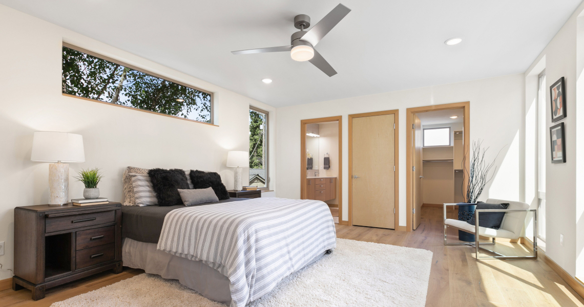 Haberzetle Homes Playful All-Electric 4-Star Townhomes bedroom