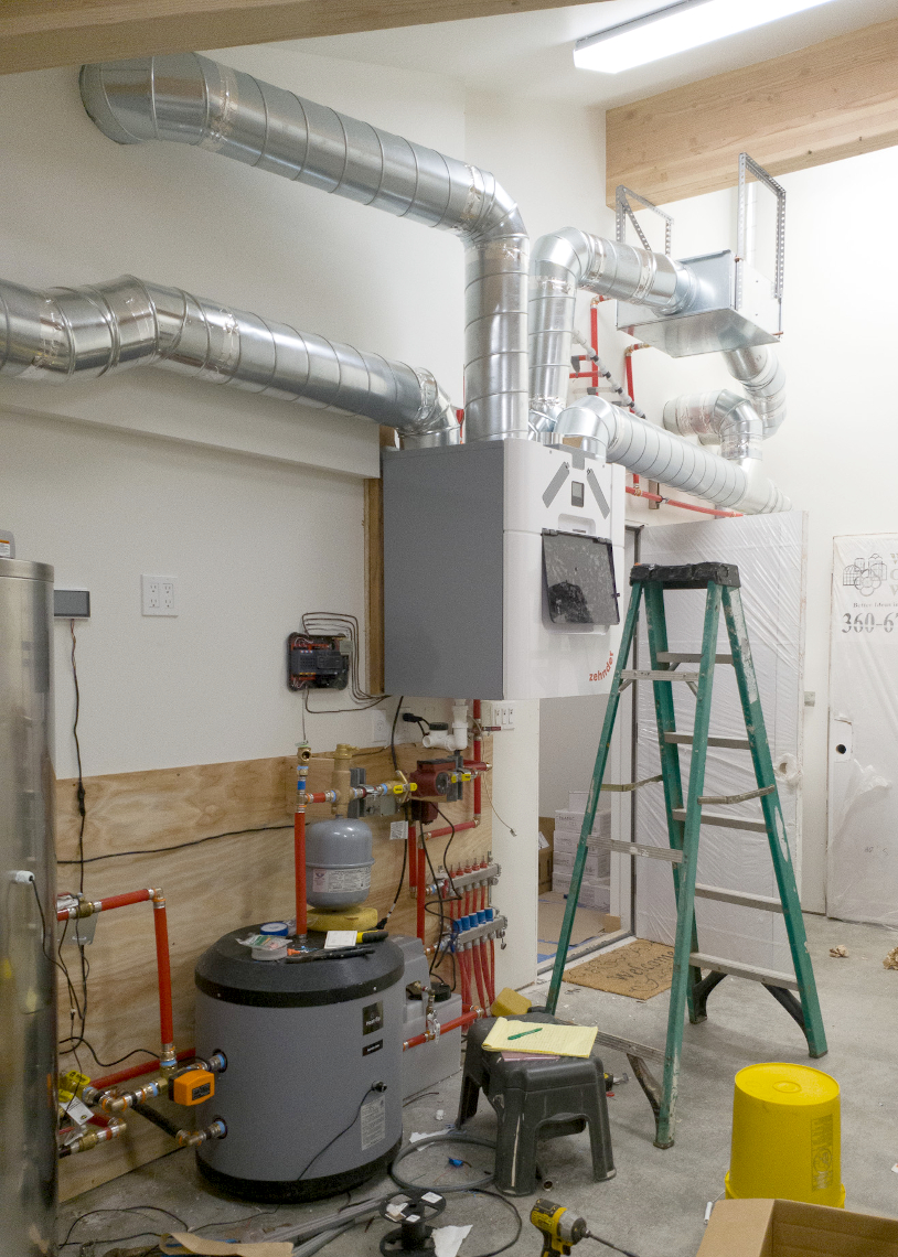 TC Legend Everson Net-Positive HRV and utility/mechanical room, photo credit Zigzag Mountain Art
