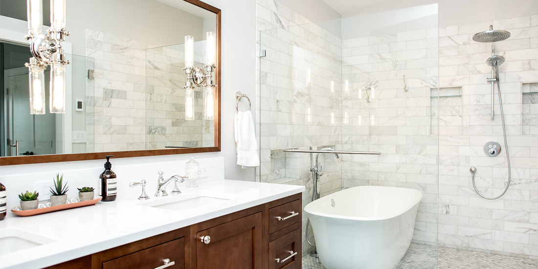 Luxury Seattle bathroom remodel from CRD Design Build