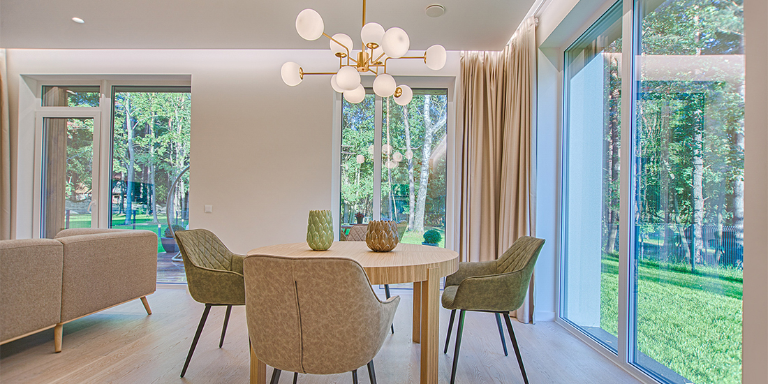 Contemporary dining room from In Form Design
