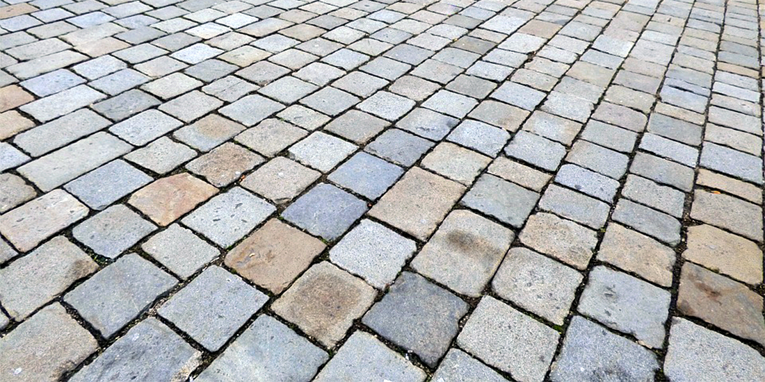 Field of paving stones