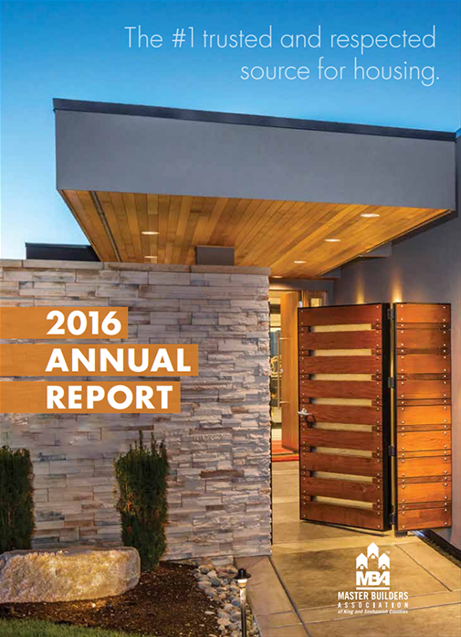 2016 Master Builders Association of King and Snohomish Counties Annual Report