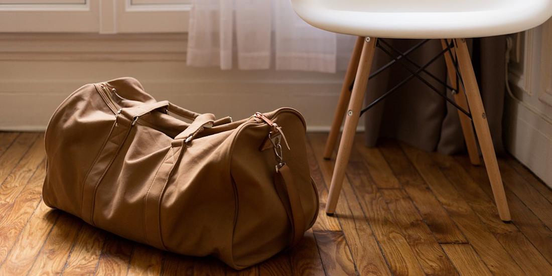 Luggage on the floor